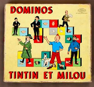 Tintin-Dominos-Tintin-et-Milou-Jeux-Noel-Montbrison-Premiere-edition