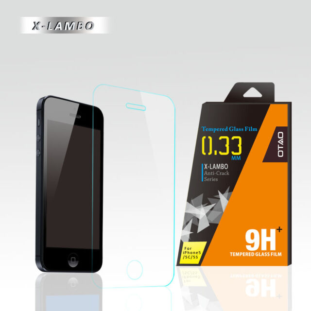 OTAO Explosion Premium 0.3ml thin Iphone 5s Tempered Glass Screen Protector 9H