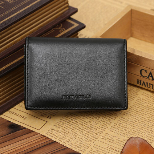 Men/'s Leather Wallet Bifold ID Credit Card Holder Mini Purse Money Clip Purse