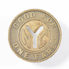 "1970's New York City Subway Token Large ""Y""  Brass 22mm!"