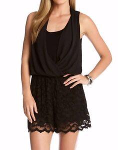 c457a5e7d1a1 Karen Kane 1N94700 Black Silky Crepe Floral Stretch Lace Wrap Short ...