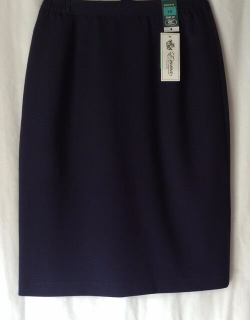 NEW LADIES SIZES 8-24 PLAIN LINED FORMAL PENCIL OFFICE SKIRT 2 LENGTHS 4 COLOURS
