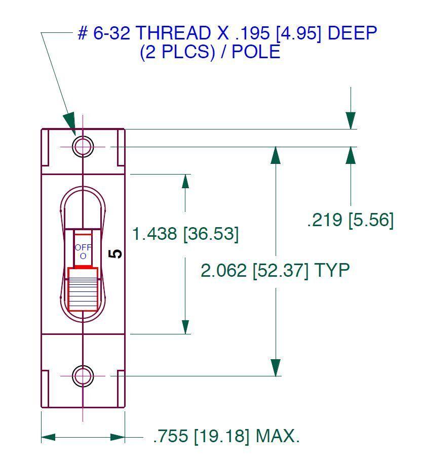 Image 2 - MIDNITE-SOLAR-20-AMP-DC-Panel-Mount-Circuit-Breaker-MNEDC-20-FREE-SHIPPING