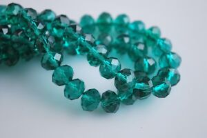 200pcs-4mm-Faceted-Rondelle-Loose-Spacer-Crystal-Glass-Beads-Peacock-Green
