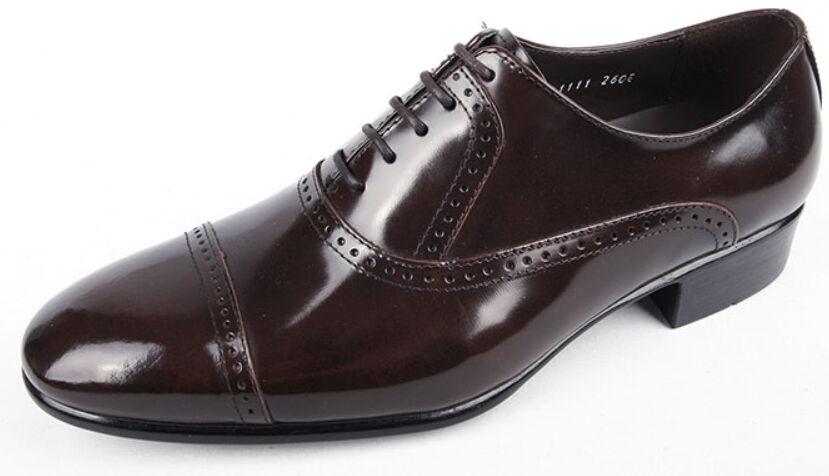 Nuevo Para hombres Genuino Cuero Vaca Vestido Formal Zapatos Con Cordones Brogue Oxford Mocasines