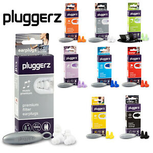 Pluggerz Ear Plugs Sleep, Music, Swimming, Shooting, Flying, Travel Adult & Kids
