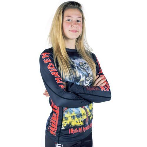 Tatami Iron Maiden Number Of Beast Ladies BJJ Rash Guard Womens Jiu Jitsu MMA