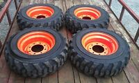 4 10-16.5 Skid Steer Tires/wheels/rims 10 Ply - For Bobcat & Others-10x16.5