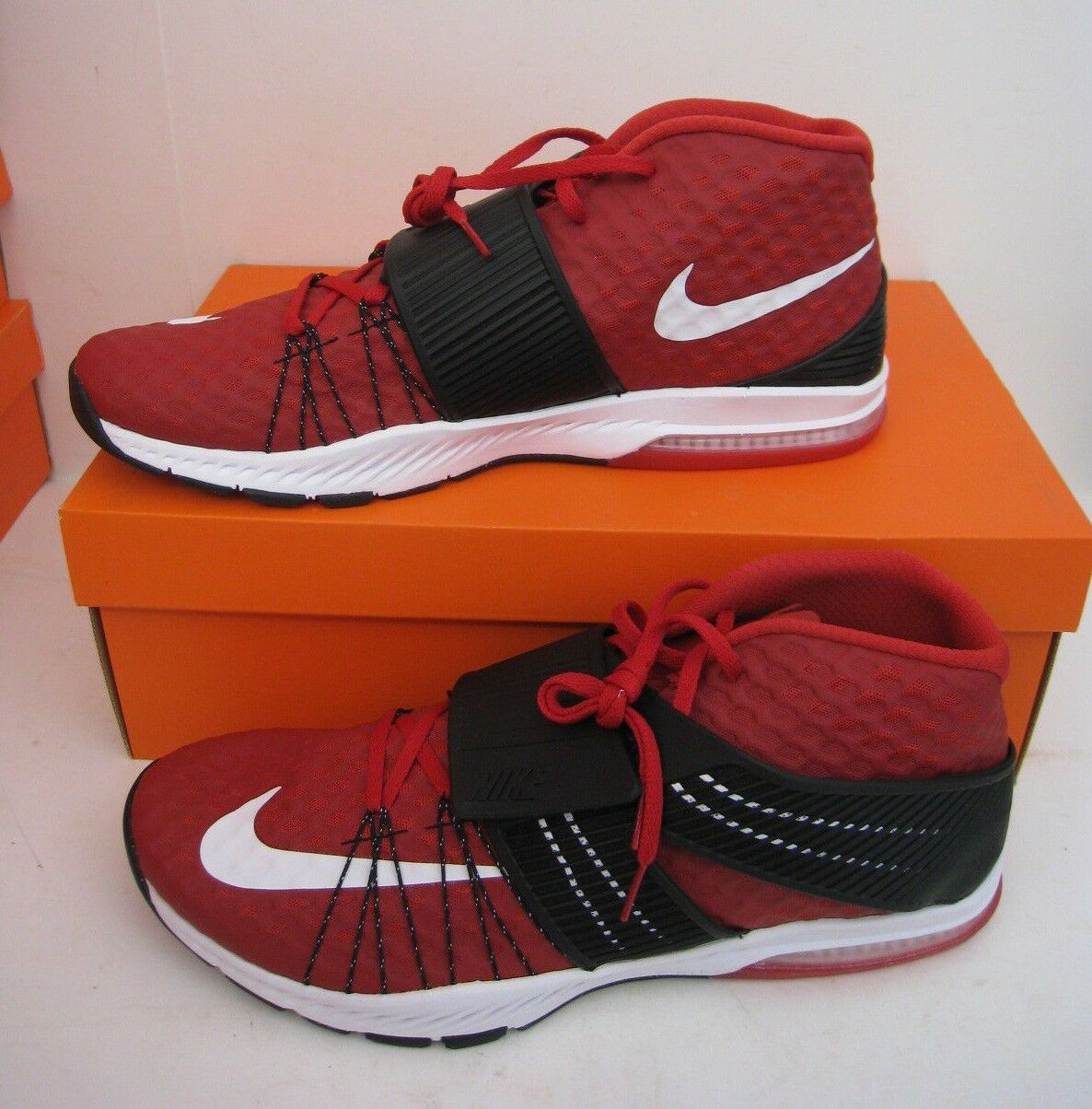 New Nike Zoom Train Toranada TB Training shoes Sneakers Gym Red   White & Black