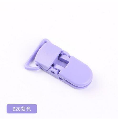 10X Baby Safe Dummy Kunststoff Schnuller Clip Halter Schnullerkette machen