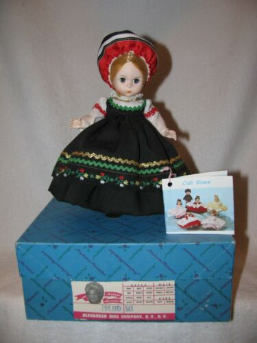 "8"" Madame Alexander DollFinland #561 With Box Made In USA"
