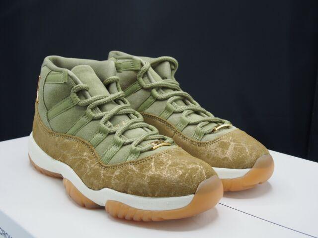 Nike Womens Sz 8 Air Jordan 11 Olive