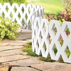 Image Is Loading 4 X Flexible Garden Lattice Lawn Grass Edging