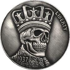 USA 5 Five Dollar Cents Totenkopf Schädel Skull Münze Coin New York Buffalo RAR
