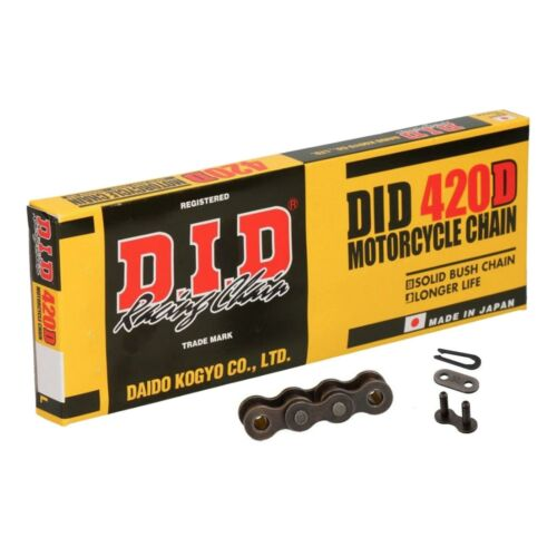 Solid Bush DID 420 D Steel Motorcycle Drive Chain with Split Link