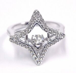 8db22723e7c414 Image is loading SPARKLING-DANCE-STAR-RING-SIZE-7-EUR-55-
