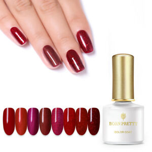 BORN-PRETTY-6ml-Red-Gems-Gellack-Soak-Off-UV-LED-Gel-Nail-Polish-Shiny-Manikuere