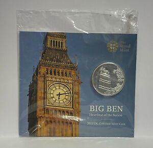 2015 - Royal Mint - Big Ben - £100 Pound .999 Silver 2oz Coin Pack