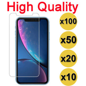 100X Tempered Glass Screen Protector Lot iPhone 12 11 Pro Xs MAX XR 6 7 8 Plus
