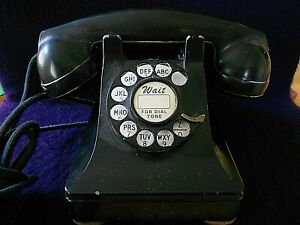 Vintage-Antique-Western-Electric-Black-Rotary-Dial-Telephone