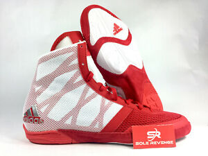hot sale online 48281 095b4 Image is loading Mens-ADIDAS-PRETEREO-3-Wrestling-Shoes-Red-Gray-