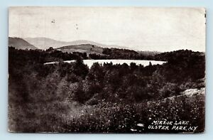 Ulster-Park-NY-c1910-AIR-VIEW-OF-MIRROR-LAKE-Postcard-A1