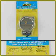 12 volt Boat Marine Stainless Compact Electric Horn Safety Sound Signal 50-14501