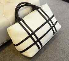 Stunning Crocodile Effect White/Black Handbag           NEW
