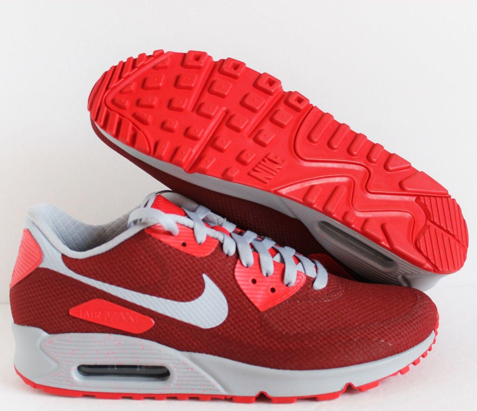 Nike air air air max 90 wmns hyp hyperfuse id ROT-Grau sz 11 / / mens sz 9,5 (822578-997] 37f00e
