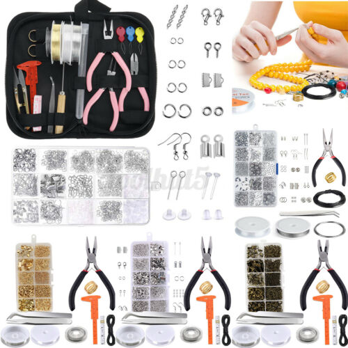 Jewelry Making Starter Kit Necklace Bracelet Earrings Set DIY Crafting Findings