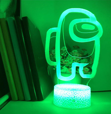 Among Us Game Night Lamp 7 Color Changing 3d Light IMPOSTER Table Decor LED