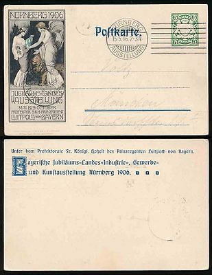 Germany Bavaria 1906 Nuremburg Illustrated Postal Stationery Card In Veel Stijlen