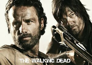 A1 - A5 SIZES THE WALKING DEAD RICK AND DARYL GLOSSY WALL ART POSTER PRINT