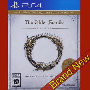 Los-Scrolls-Ancestrales-en-linea-Tamriel-Unlimited-Playstation-4-PS4-18-Totalmente-Nuevo