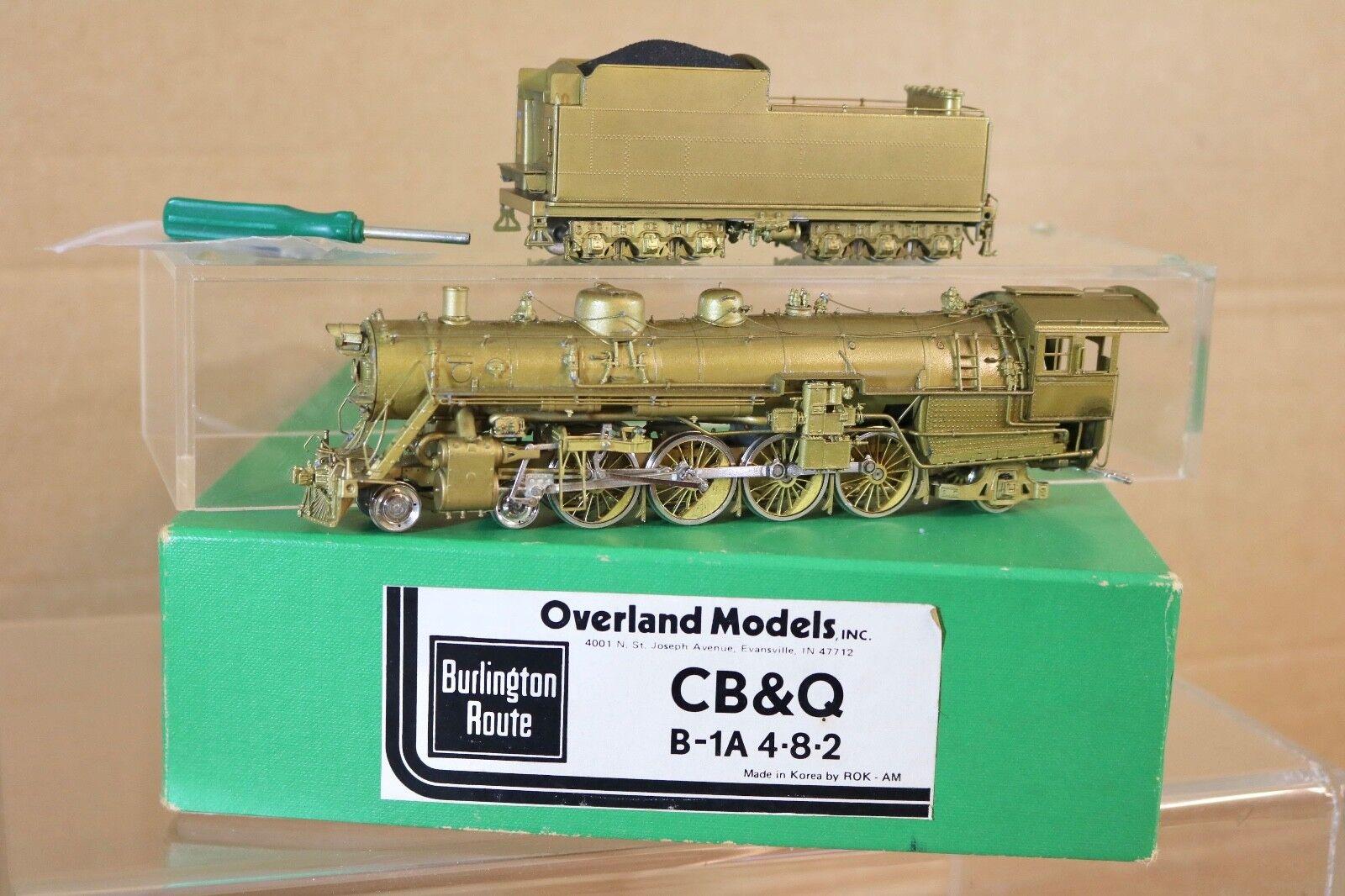 Overland Modelos Latón Burlington Cb&q 4-8-2 Class B-1a Locomotoras en Caja Np
