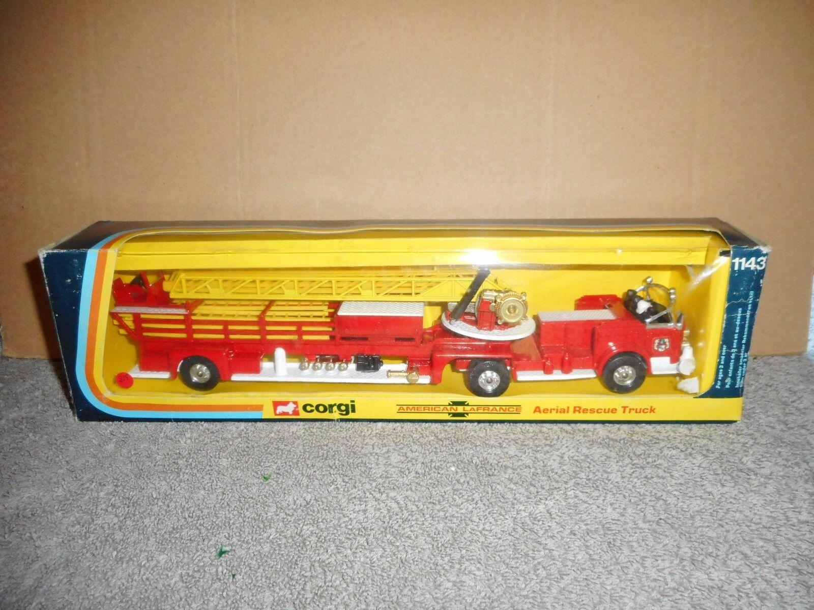 Joyeux Noël! corgi ancien AMERICAN LAFRANCE  pompier n°1143 NEUF  BOITE | Choix Des Matériaux