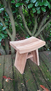 Top Quality Teak Wood Natural Stool For Bathroom Shower Qubicle