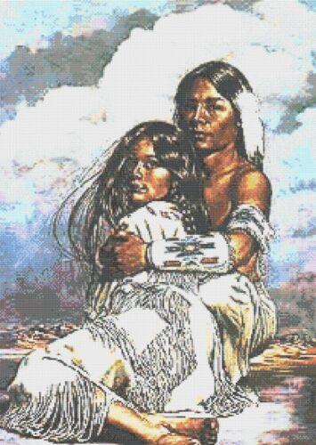 Native indiano-PER SEMPRE IN LOVE-contato cross stitch chart