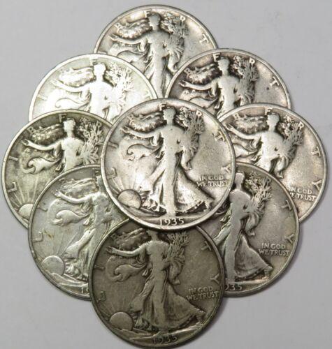 "1935-D /""SET BUILDER/"" Silver Walking Liberty 50c Half Dollar US Coin #18473"