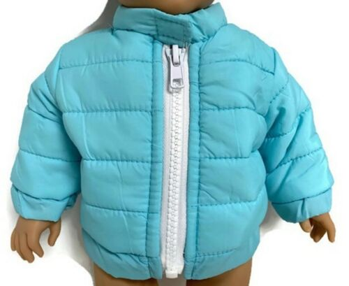 Blue Puffer Jacket Coat Doll Clothes for 18 inch Boy American Girl