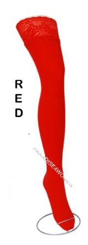 NUOVO Pizzo Top 80 Denari Velate Ritardi Calze,9 vari colori-taglie S-XL