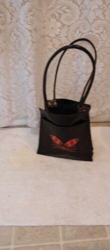 BLACK CAT purse bag.  All leather.   - image 1