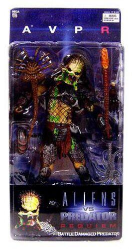 démasquée Wolf Alien Vs Predator Requiem Series 4 Battle Damaged Predator Action Figure