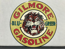 Gilmore gasoline vintage advertising sign oil gas round metal