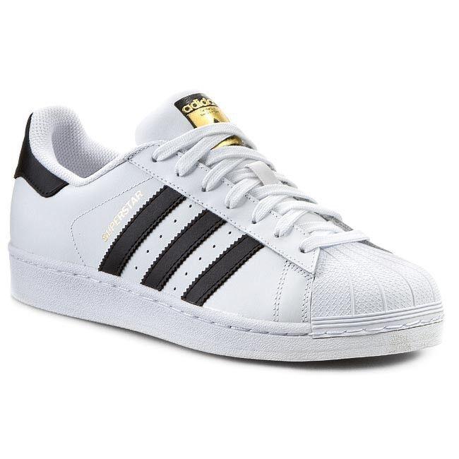 sports shoes 0cf28 0f49e NEW C77124 Men s Adidas Superstar shoes CORE WHITE WHITE WHITE CORE BLACK  f7364a