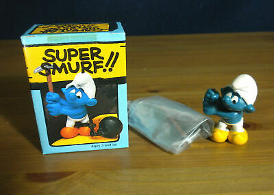 Smurfs 40213 Chain Gang Smurf Prisoner Axe Rock Vintage Figure Schleich PVC Toy