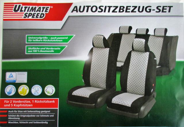 Auto Car Sitzbezug Sitzbezüge Schonbezüge Schonbezug Universal Schwarz//Grau PAL