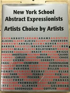 New York School Abstract Expressionists: Artists Choice by Artists.