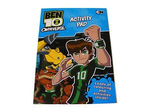 ninos-infantil-BEN-10-color-Para-Colorear-libro-de-actividades-Pad-NUEVO