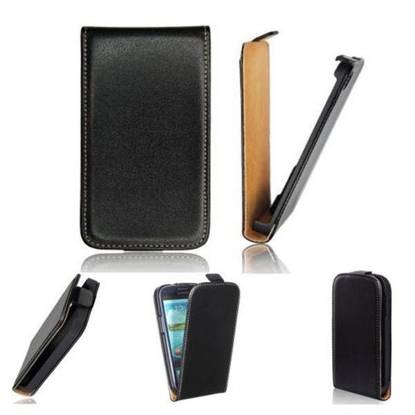 TRENDYX  Slim Flip-Style Tasche für HUAWEI ASCEND G510 Etui Case Hülle Black